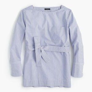 J. CREW boat neck striped tunic blouse, 10.